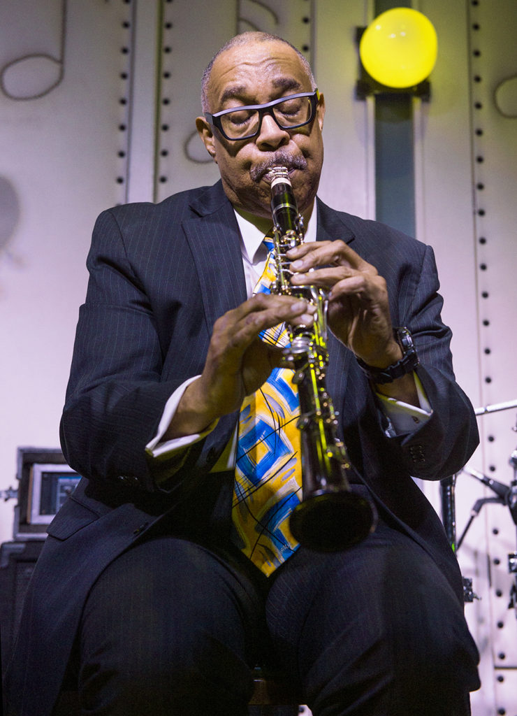 Dr. Michael White performs playing Clarinet at Little Gem Saloon in New Orleans, LA on May 5, 2017 during the Basin Street Records 20th Anniversary Kickoff Event for the album Live at Little Gem Saloon