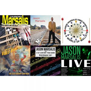 Jason Marsalis Gift Pack Cover Art depicting all six of Jason Marsalis's albums